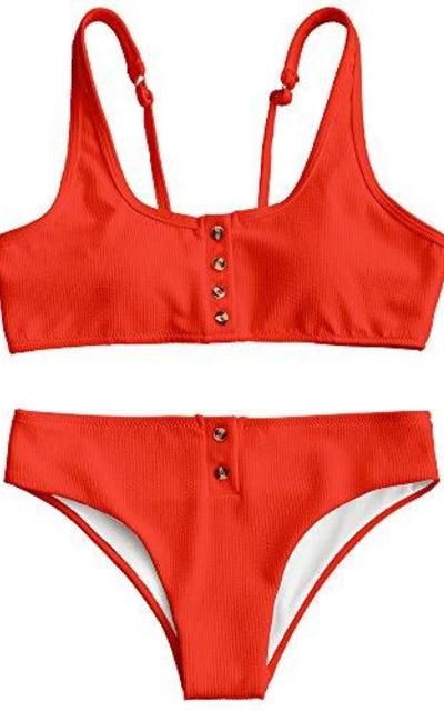 ZAFUL Buttons Bikini Set