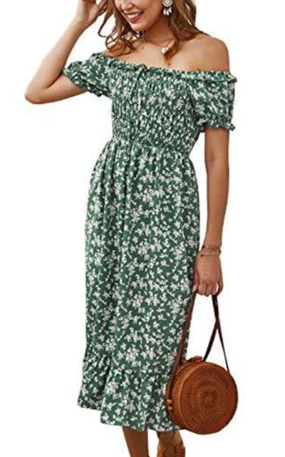 MEROKEETY Floral Dress
