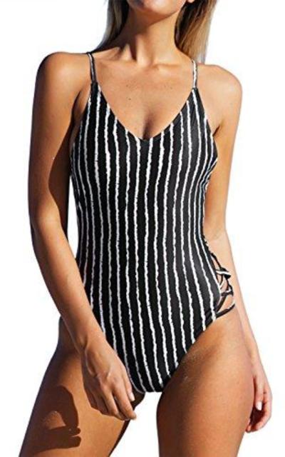 CUPSHE Stripe One-Piece Swimsuit