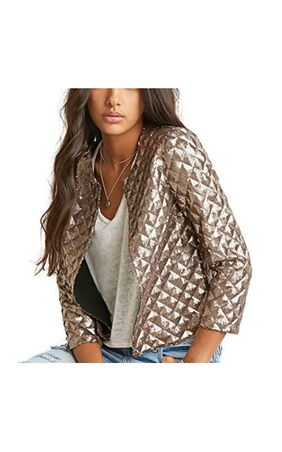 ASMAX HaoDuoYi Sequin Short Jacket