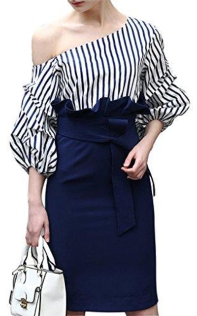 MISSLOOK One Off Shoulder Sheath Dress