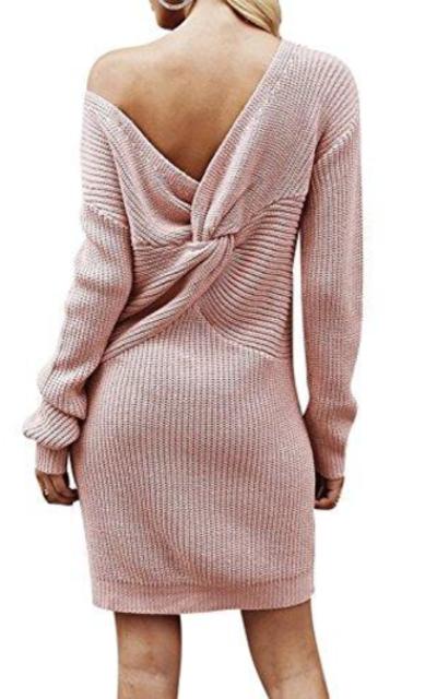 BerryGo Knitted Sweater Mini Dress