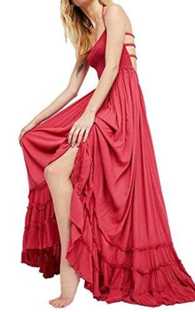 R.Vivimos Summer Cotton Blackless Long Dress