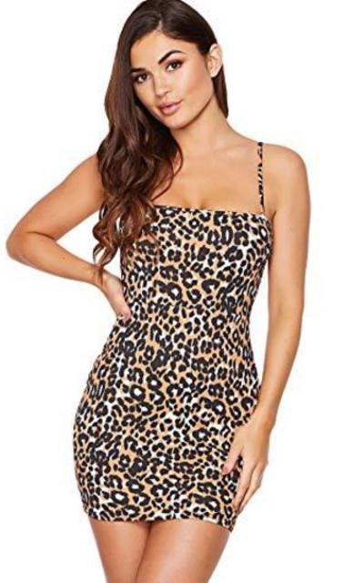 Floerns Leopard Print Mini Cami Dress