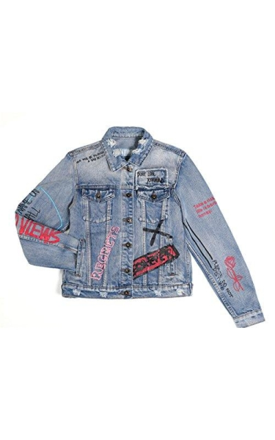 Dolcevida Graffiti Jean Jacket