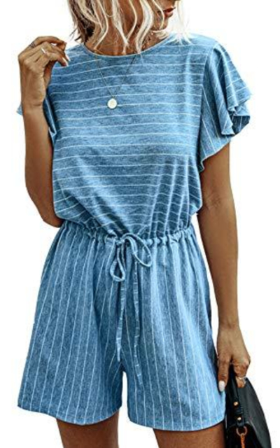 Minipeach Striped Romper