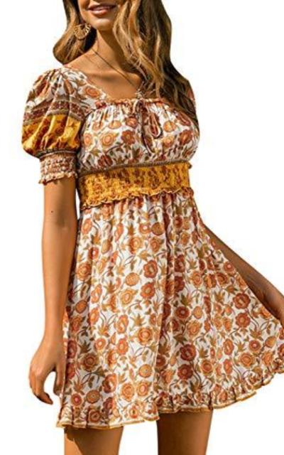 BerryGo Boho Floral Dress