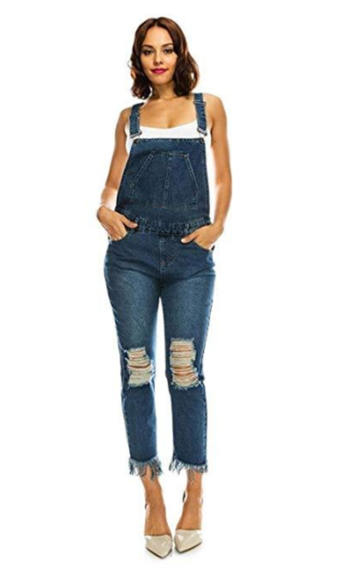 G-Style USA American Bazi Distressed Overalls