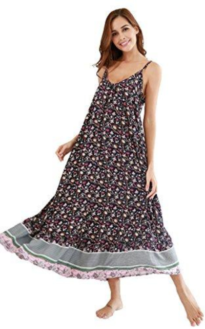 BUENOS NINOS V Neck Floral Maxi Dress