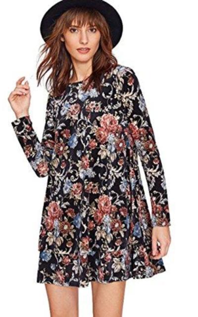 Milumia Print Swing Velvet Dress