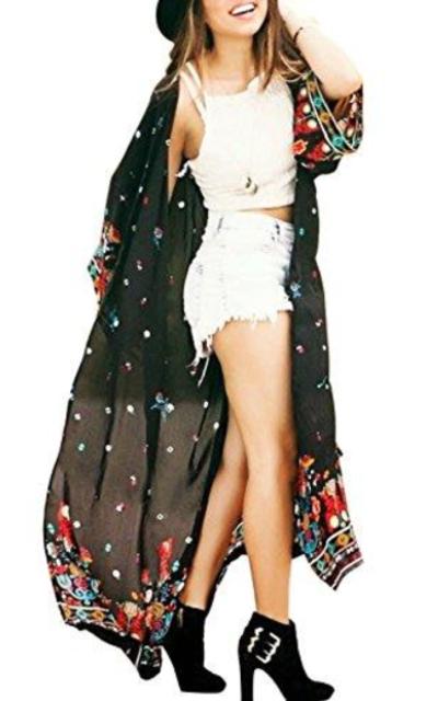Long Kimonos Cover Up