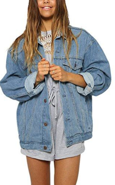 Eliacher Boyfriend Denim Jacket