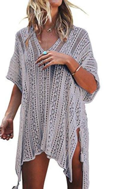 Jeasona Cover Up Crochet Dress
