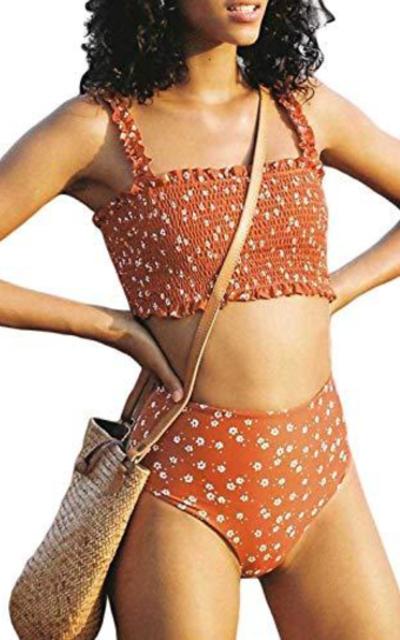 Eytino Smocked Bikini Two Piece Set