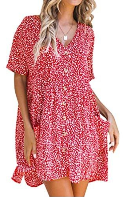 ECOWISH Floral Dress