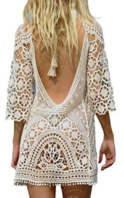 Jeasona Crochet Lace Coverup