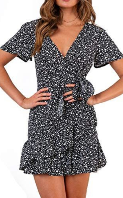 Relipop Short Sleeve Print Dress