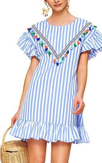 Floerns Striped Tunic Dress