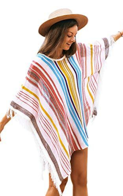 CUPSHE Vertical Stripes Cover Up