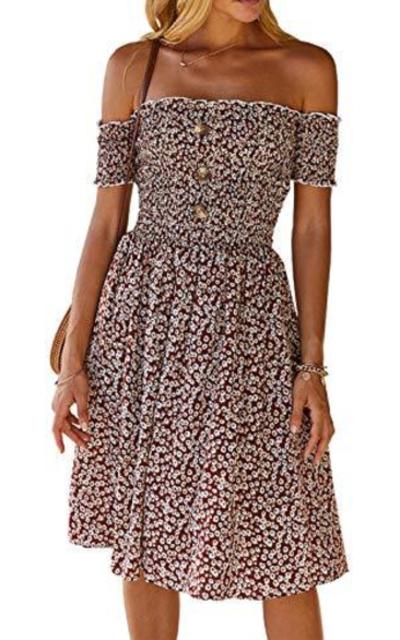 MissyLife Off Shoulder Midi Dress