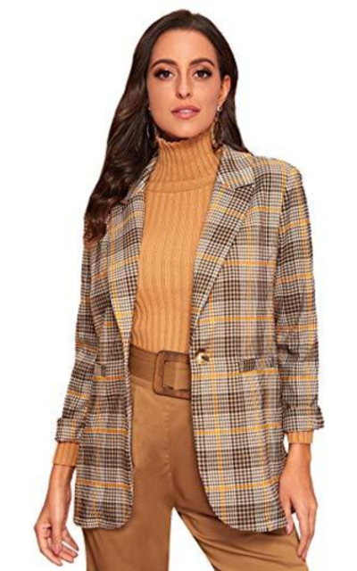 Milumia Plaid Blazer