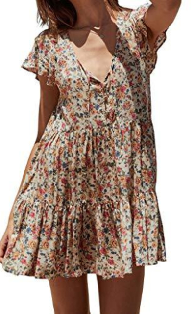 R.Vivimos Floral Print Short Dress