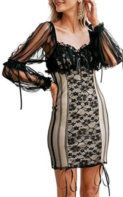 MsLure Sexy Lace Mini Dress