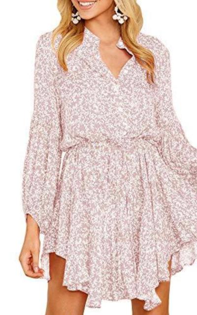 Jeanewpole1 Floral Button Down Mini Dress