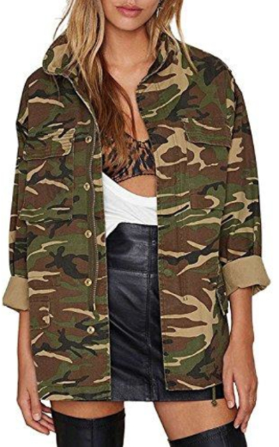 IRISIE Military Camo Lightweight Jacket
