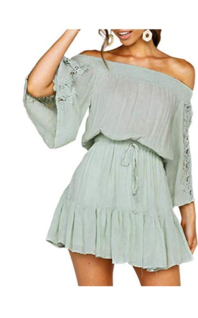 Miessial Ruffle Mini Dress