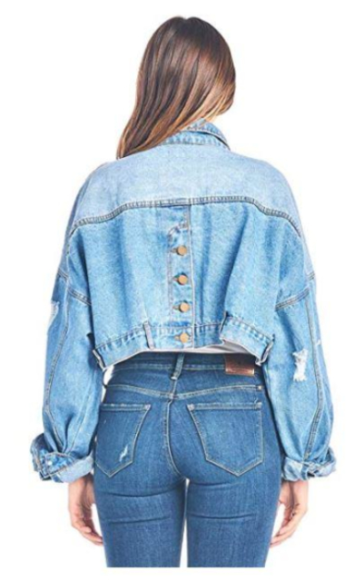 Tough Cookie's Vintage Washed Crop Denim Jacket