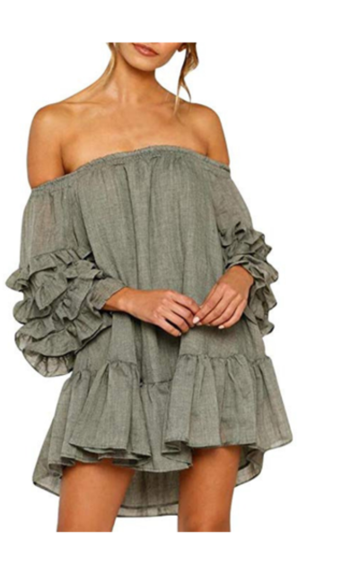 BODOAO Ruffled Mini Dress