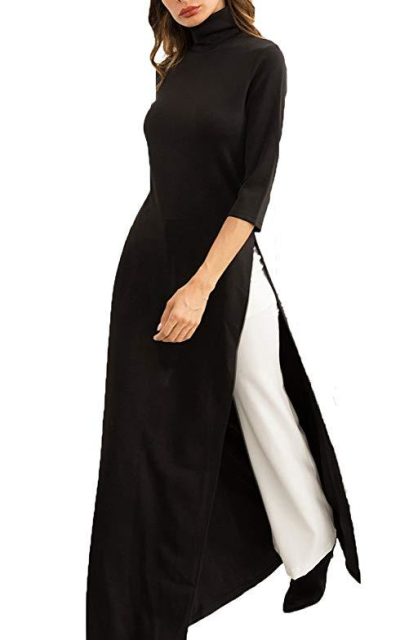 HZSONNETurtle Neck Bodycon Tunic Dress