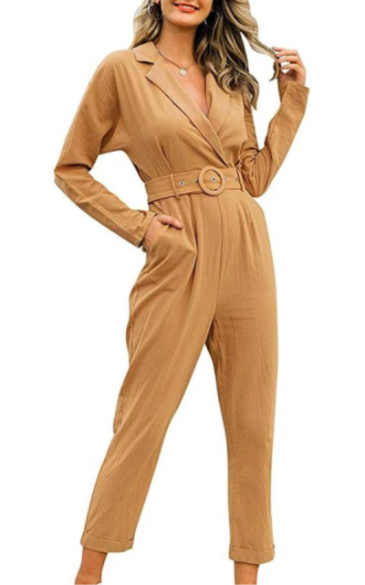 Zandiceno Button Down Jumpsuit