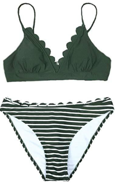 CUPSHE Scalloped Trim in The Moment Bikini