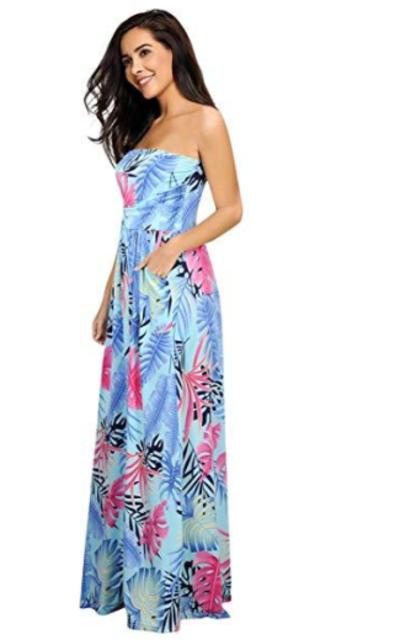 Leadingstar Floral Beach Maxi Dress
