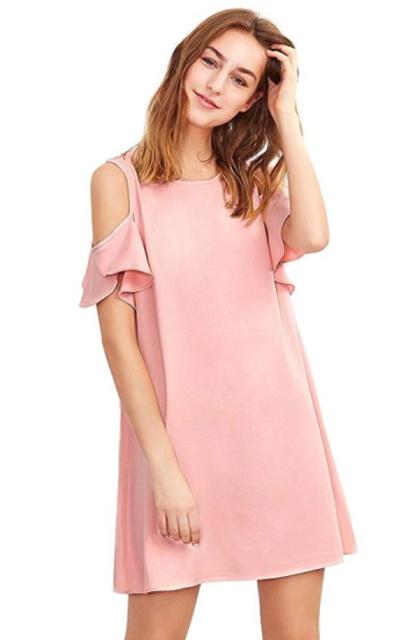 Milumia Cold Shoulder Ruffle Dress