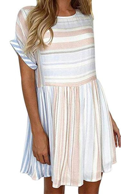 HODOD WStripe Mini Short Dress
