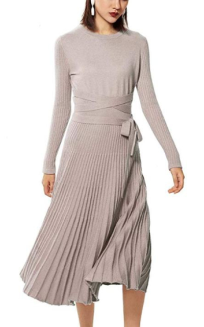 FINCATI Long Sweater Dress