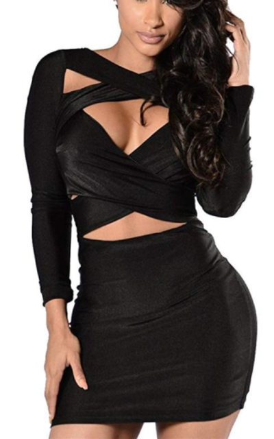 Cut Out Bandage Bodycon Party Dress