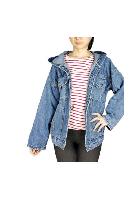 Kaachli Jeans Coat Hoodie Jacket