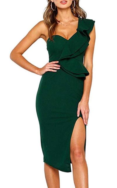 ECOWISH  Bodycon Midi Party Dress