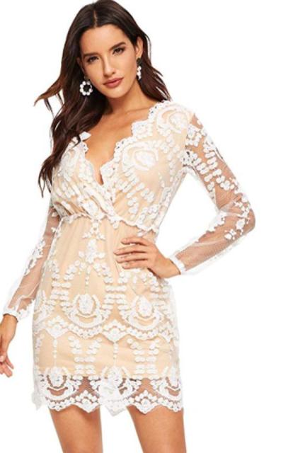 ROMWE Plunging Short Dress