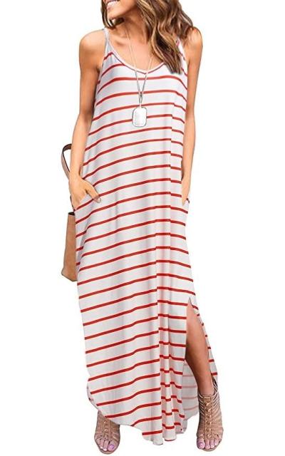 HUSKARY Cami Maxi Dresses with Pocket