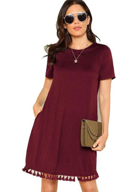 Romwe Tunic T-Shirt Dress