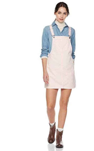 Lily Parker Classic Denim Overall Dress