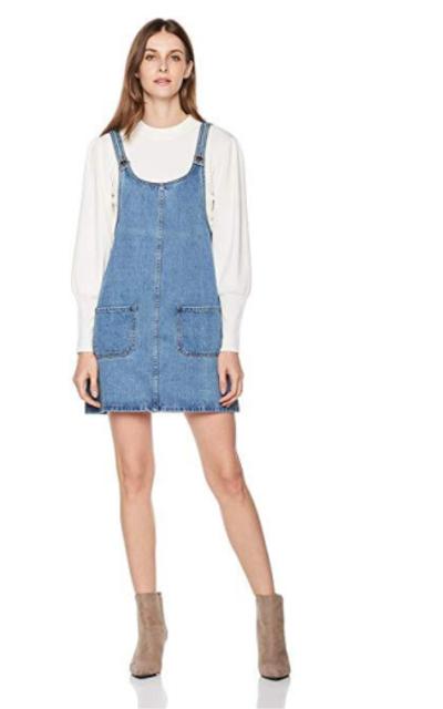Lily Parker Classic Denim Bib Overall Dress