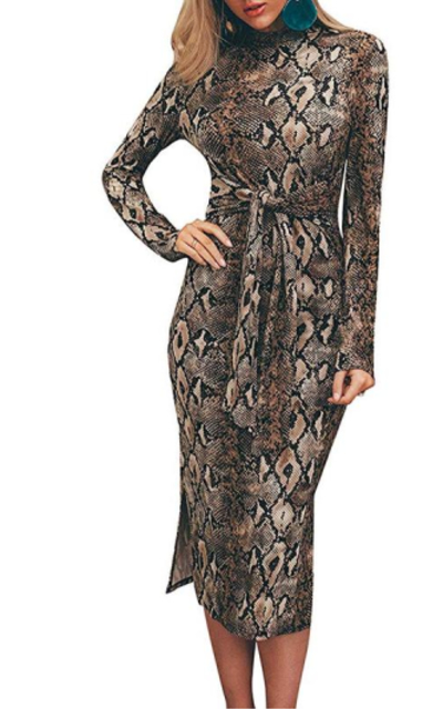 Miessial Snake Print Dress