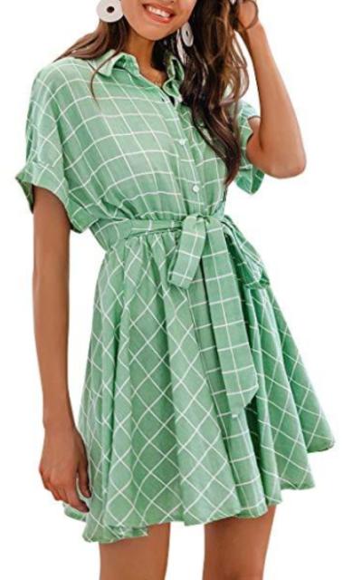 Miessial Check Dress