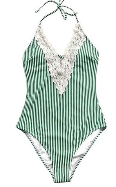 CUPSHE Vintage Lace Bathing Suit